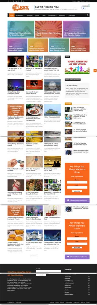 10KeyThings Blog Articles website