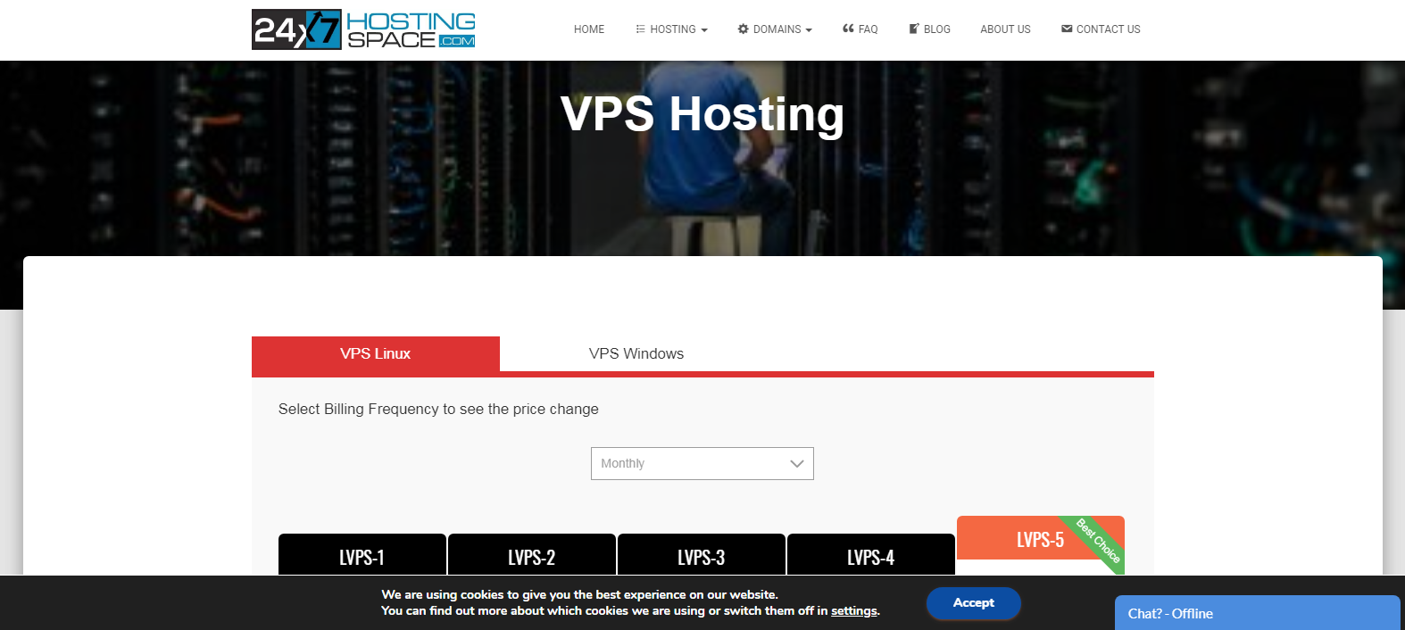 24x7hostingspace website